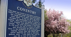 Coventry History Sign for home page slide show
