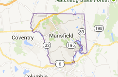 Mansfield CT Locksmith service map