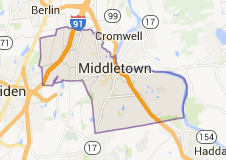 Middletown CT Locksmith service map